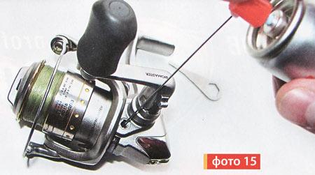 заправляем рыболовную катушку